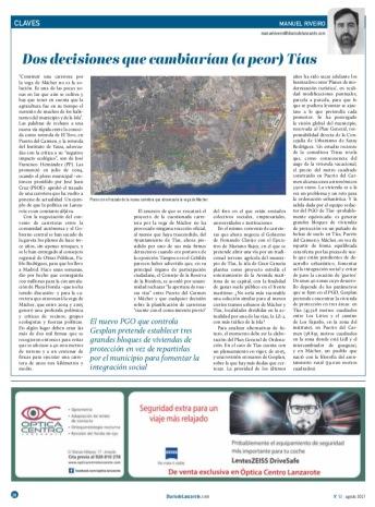 2-Diario de Lanzarote Articulo Opinión Mácher
