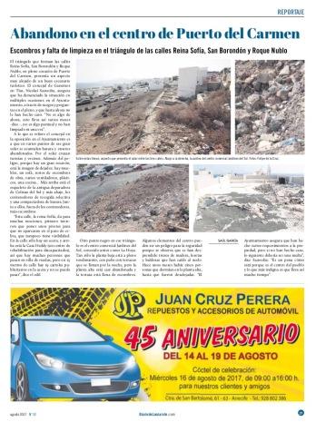 3-Diario de Lanzarote Articulo Pto. del Carmen