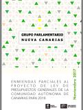 1-Enmiendas NC al Presupuesto de Canarias 2018