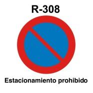 R-308 estacionamiento prohibido