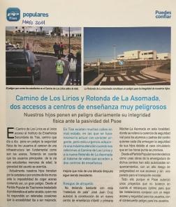 Criticas del PP en 2011 Los Lirios