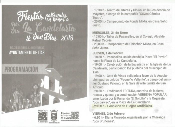 Fiestas Candelaria y San Blas 2018