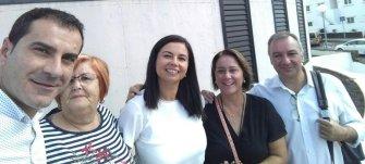 Mame, María, Érica, Gladis y Luis